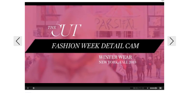 Videos Fashion Week  2013