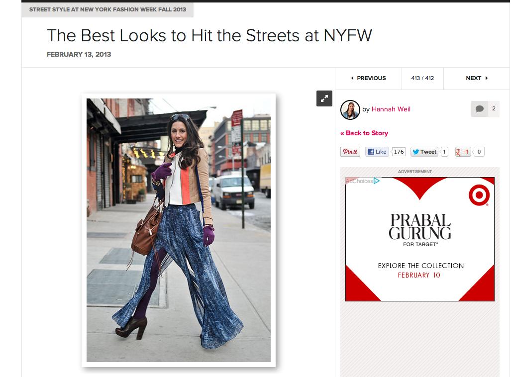 NYFW Best street style looks fab sugar
