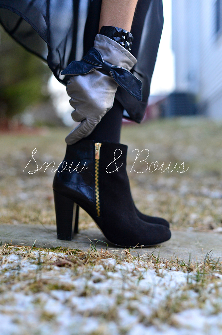 ann taylor booties & Bows