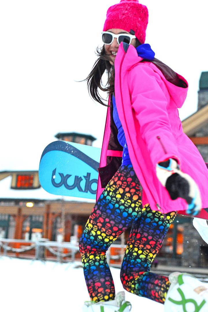 Spring snowboarding