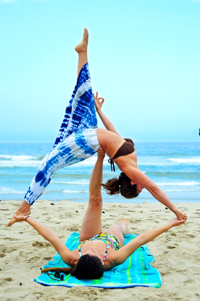 acro beach yoga