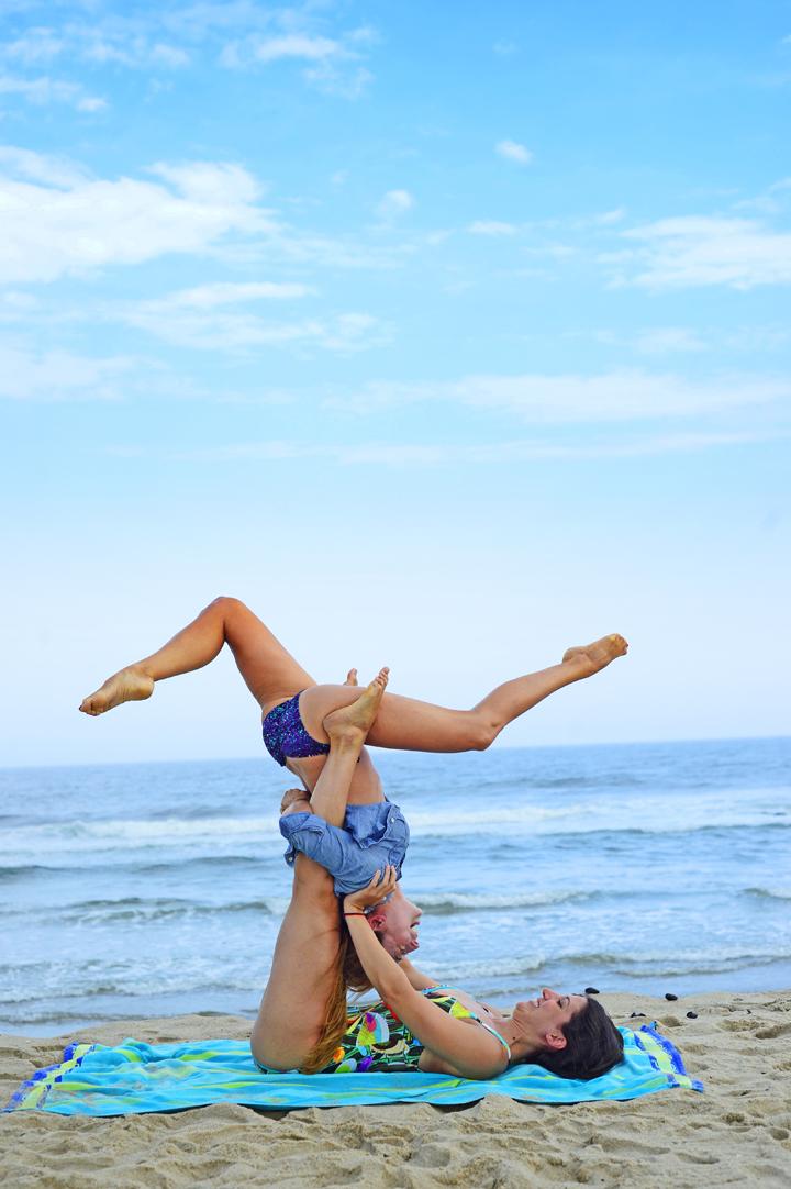 acro beach yoga